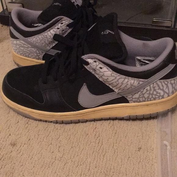 Nike Shoes Jordan Dunk Black Cement Sb Poshmark